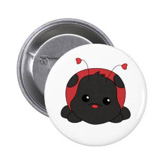 Cutie Lady Bug Button
