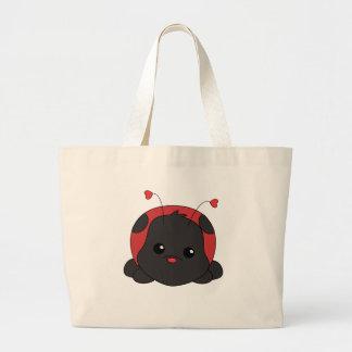 Cutie Lady Bug Large Tote Bag