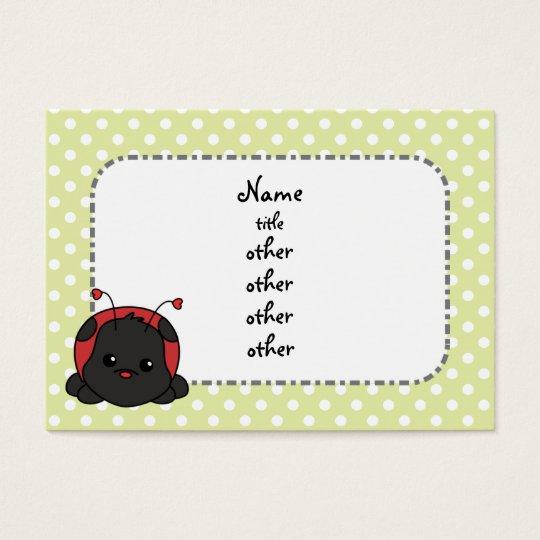 Cutie Ladybug Business Card