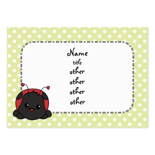 Cutie Ladybug Business Cards