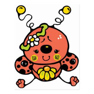 Cutie Ladybug Postcard