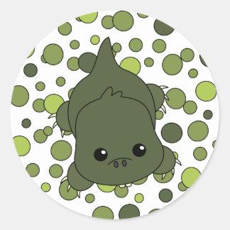 Cutie Lil' Alligator Classic Round Sticker