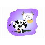 Cutie little cow postcard
