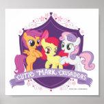 Cutie Mark Crusaders Crest Poster