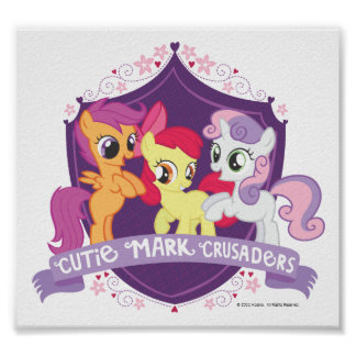 Cutie Mark Crusaders Crest Poster