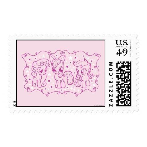 Cutie Mark Crusaders Postage Stamps