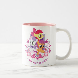 Cutie Mark Crusaders Script Two-Tone Coffee Mug