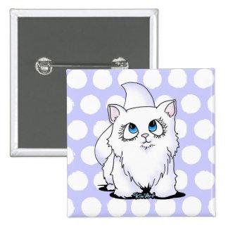 Cutie observado azul hace frente al gatito pin cuadrado