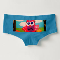 Cutie Owl Women's Boy Short Underwear