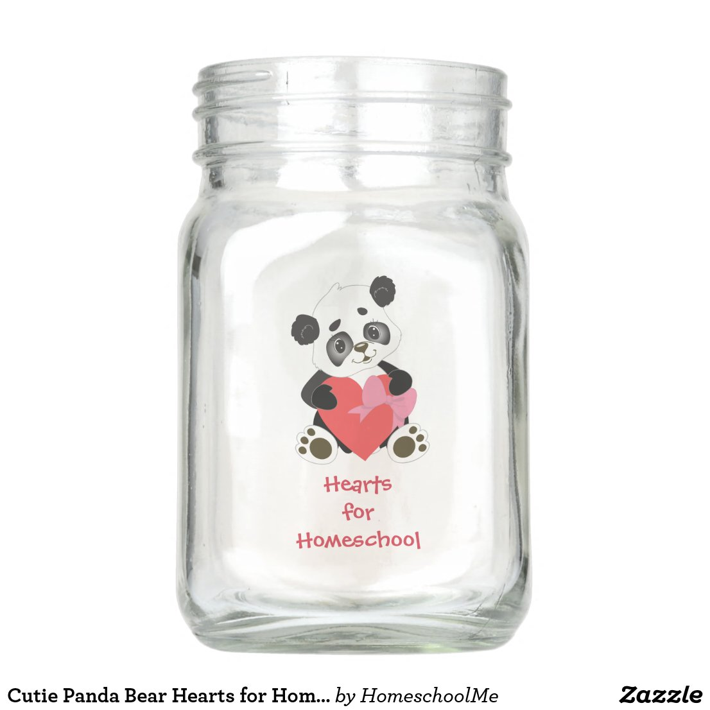 Cutie Panda Bear Hearts for Homeschool