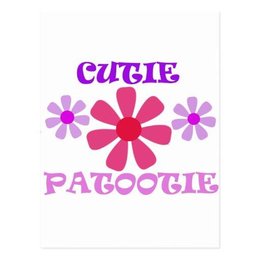 Cutie Patootie con las flores Postales