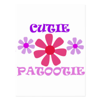 Cutie Patootie con las flores Postal