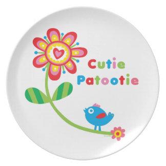 Cutie Patootie - placa de la melamina Plato