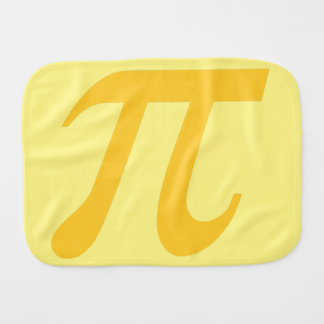 cutie pi burp cloth - yellow & gold