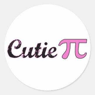 Cutie Pi Classic Round Sticker