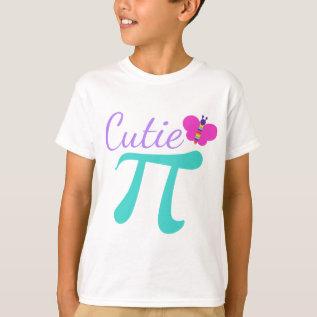 Cutie Pi Cute Pun T-shirt at Zazzle
