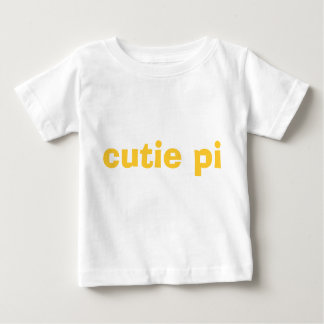 cutie pi infant tee - yellow & gold