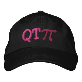 Cutie Pie as in Q T Pi Embroidered Baseball Hat