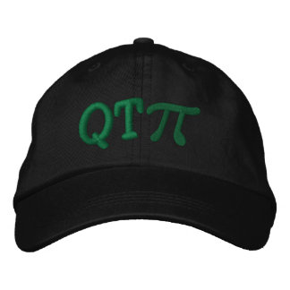 Cutie Pie as in Q T Pi Embroidered Hat