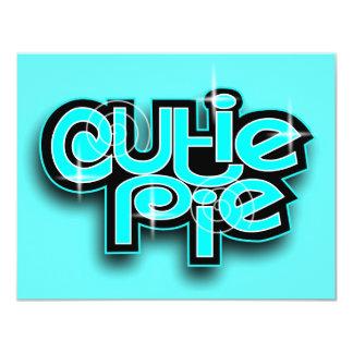 CUTIE PIE BABYBLUE 4.25X5.5 PAPER INVITATION CARD