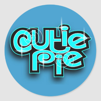 CUTIE PIE BABYBLUE STICKER