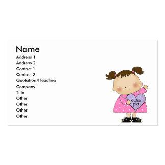 cutie pie candy heart girl business card
