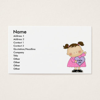 cutie pie candy heart girl business card