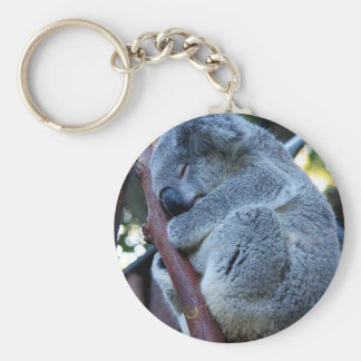 Cutie Pie Koala Basic Round Button Keychain