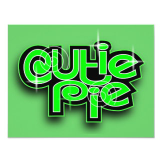 CUTIE PIE LIME 4.25X5.5 PAPER INVITATION CARD