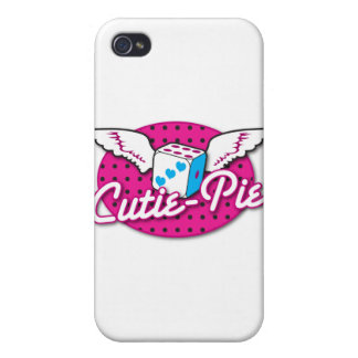 Cutie-Pie rockabilly cute dice with wings Cases For iPhone 4