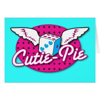 Cutie Pie rockabilly design NP Greeting Card