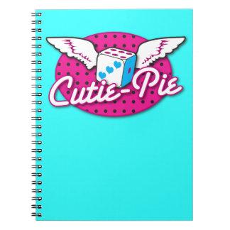 Cutie Pie rockabilly design NP Spiral Notebooks