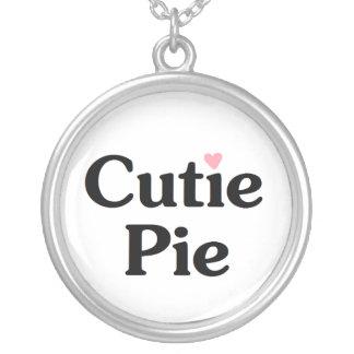 Cutie Pie Silver Plated Necklace