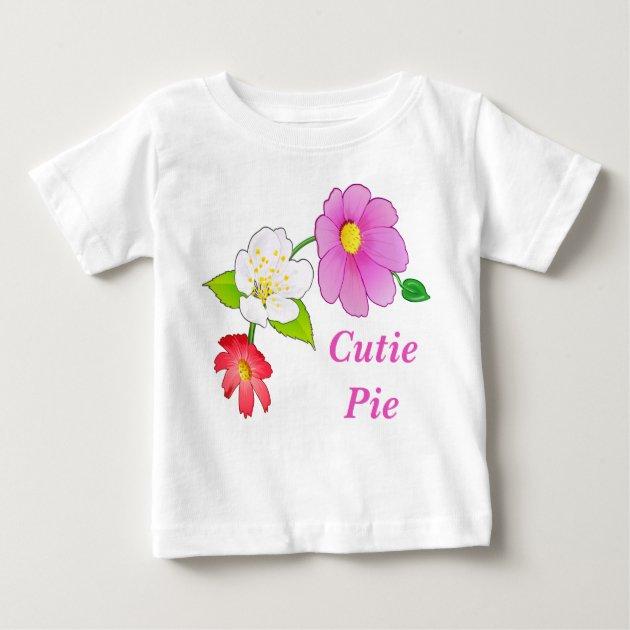 Cutie Pie T Shirts Floral Hawaiian Infant Clothes   Zazzle.com