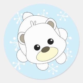 Cutie Polar Bear Classic Round Sticker