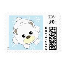 Cutie Polar Bear Postage