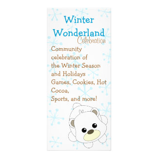 Cutie Polar Bear Personalized Rack Card