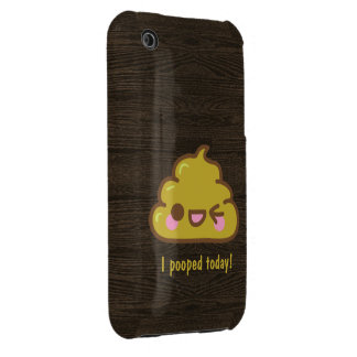 Cutie poo - I pooped today! Case-Mate iPhone 3 Case