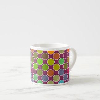 Cutie Rainbow Dots Espresso Mug 6 Oz Ceramic Espresso Cup