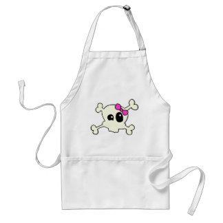 Cutie skull girl adult apron