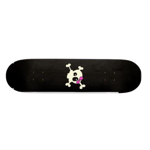 Cutie skull girl skateboard decks