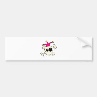 Cutie Skulls Jester Bumper Sticker
