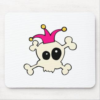 Cutie Skulls Jester Mouse Pad