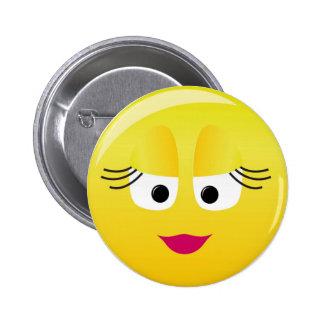 Cutie Smilie Pin Redondo De 2 Pulgadas