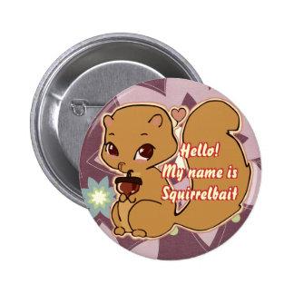 Cutie Squirrel Button