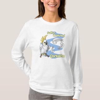 """Cutie"" Sulfur Crested Cockatoo T-shirt (lt)"