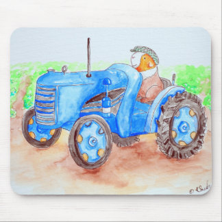 Cutie the Farmer Guinea Pig Painting Mouse Pad