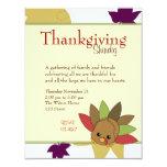 Cutie Turkey 4.25x5.5 Paper Invitation Card