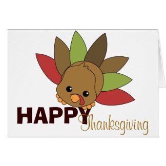 Cutie Turkey Greeting Card