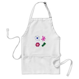 CUTIE VIRUSES. ABSTRACT Painted Art Adult Apron